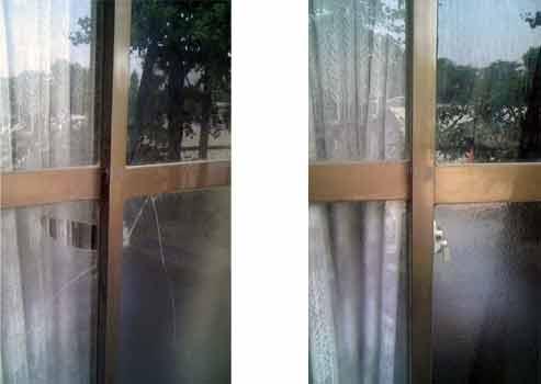このお宅も空き巣でガラス交換